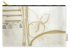 Sand And Stone 3- Contemporary Abstract Art By Linda Woods Carry-all Pouch