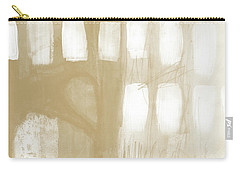 Sand And Stone 4- Contemporary Abstract Art By Linda Woods Carry-all Pouch