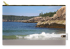 Sand Beach Acadia Carry-all Pouch by Living Color Photography Lorraine Lynch