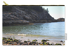 Carry-all Pouch featuring the photograph Sand Beach At Acadia by Living Color Photography Lorraine Lynch
