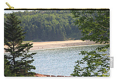 Carry-all Pouch featuring the photograph Sand Beach From A Distance by Living Color Photography Lorraine Lynch