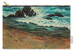 Carry-all Pouch featuring the painting Sand Crabs by Darice Machel McGuire