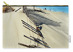 Sand Dune Fences And Shadows Carry-all Pouch