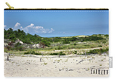 Carry-all Pouch featuring the photograph Sand Dune In Cape Henlopen State Park - Delaware by Brendan Reals