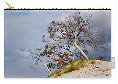 Sand Dune With Bent Trees Carry-all Pouch by Lexa Harpell