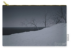 Carry-all Pouch featuring the photograph Sand Dunes And Trees by Rachel Cohen