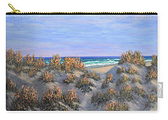 Sand Dunes Sea Grass Beach Painting Carry-all Pouch