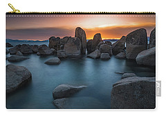 Sand Harbor Sunset Carry-all Pouch by Alpha Wanderlust