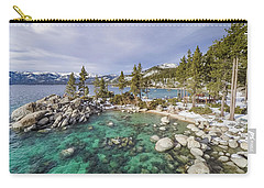 Sand Harbor Views Carry-all Pouch by Alpha Wanderlust