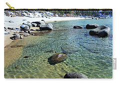 Carry-all Pouch featuring the photograph Sand Language In Winter by Sean Sarsfield