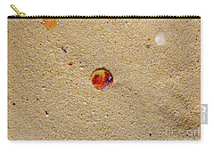 Carry-all Pouch featuring the photograph Sand Shell Art by Francesca Mackenney