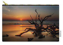 Sand Surf And Driftwood Carry-all Pouch