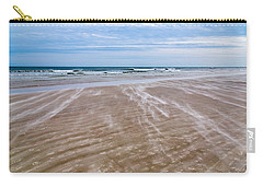 Carry-all Pouch featuring the photograph Sand Swirls On The Beach by John M Bailey