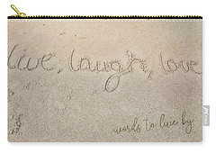 Sand Texting Quote Carry-all Pouch