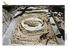 Carry-all Pouch featuring the photograph Sand Turtle Print by Francesca Mackenney