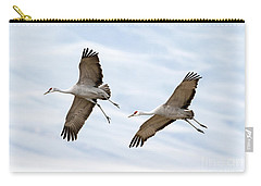 Sandhill Crane Approach Carry-all Pouch by Mike Dawson