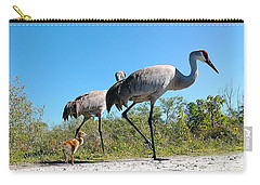 Sandhill Crane By Camera Phone 000 Carry-all Pouch