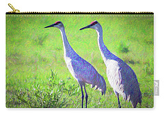 Sandhill Crane Couple Carry-all Pouch