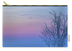 Sandhill Crane Flyover At Sunrise Carry-all Pouch