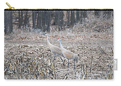 Carry-all Pouch featuring the photograph Sandhill Cranes 1171 by Michael Peychich