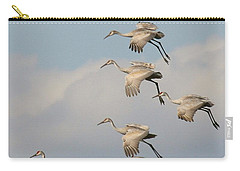 Sandhill Cranes Carry-all Pouch by Myrna Bradshaw