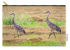 Carry-all Pouch featuring the photograph Sandhill Pair  by Ricky L Jones