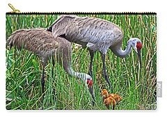 Sandhill Cranes  Newborns Carry-all Pouch
