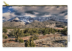 Sandia Mountain Landscape Carry-all Pouch by Alan Toepfer