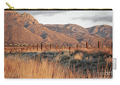 Sandia Mountains Rustic Fence Countryside Carry-all Pouch by Andrea Hazel Ihlefeld