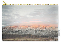 Sandia Mountains Rustic Sunset Landscape Carry-all Pouch by Andrea Hazel Ihlefeld