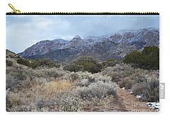 Sandia Mountains Storm Winter Landscape Carry-all Pouch by Andrea Hazel Ihlefeld