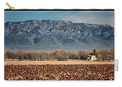 Carry-all Pouch featuring the photograph Sandias - Los Poblanos Fields by Nikolyn McDonald