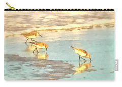 Sandpipers Along The Shoreline Carry-all Pouch