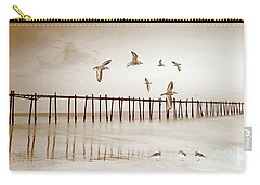 Sandpipers In Sepia Carry-all Pouch