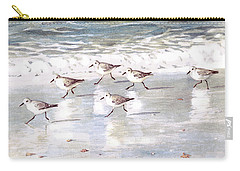 Sandpipers On Siesta Key Carry-all Pouch