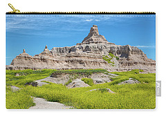 Carry-all Pouch featuring the photograph Sandstone Battlestar by John M Bailey