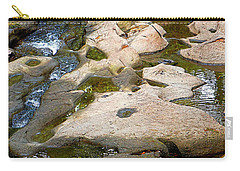 Carry-all Pouch featuring the photograph Sandstone Creek Bed by Sharon Talson