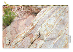 Carry-all Pouch featuring the photograph Sandstone Feet In Valley Of Fire by Ray Mathis