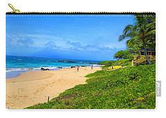 Carry-all Pouch featuring the photograph Sandy Beaches Of Maui by Michael Rucker