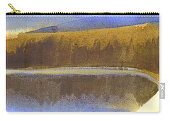 Carry-all Pouch featuring the painting Sandy Blue Dusky Mountain Lake by Kip DeVore