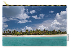 Carry-all Pouch featuring the photograph Sandy Cay Beach British Virgin Islands Panoramic by Adam Romanowicz