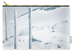 Carry-all Pouch featuring the photograph Sandy Dunes. Series Ethereal Blue by Jenny Rainbow