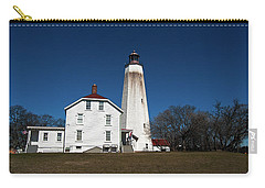 Sandy Hook Lighthouse Carry-all Pouch by Elsa Marie Santoro