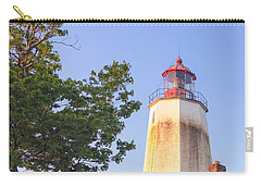Sandy Hook Lighthouse Square Carry-all Pouch by Marianne Campolongo