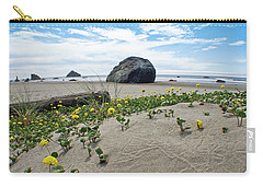 Carry-all Pouch featuring the photograph Sandy Point Of View by Adria Trail