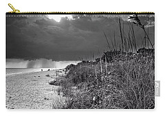 Sanibel Dune At Sunset In Black And White Carry-all Pouch