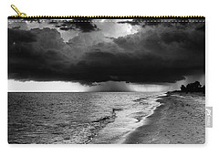 Sanibel Island Rain In Black And White Carry-all Pouch