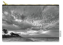 Sanibel Island Sunrise In Black And White Carry-all Pouch