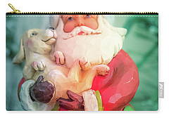 Santa And Lab Pup Carry-all Pouch
