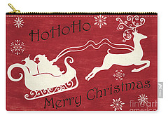 Santa And Reindeer Sleigh Carry-all Pouch